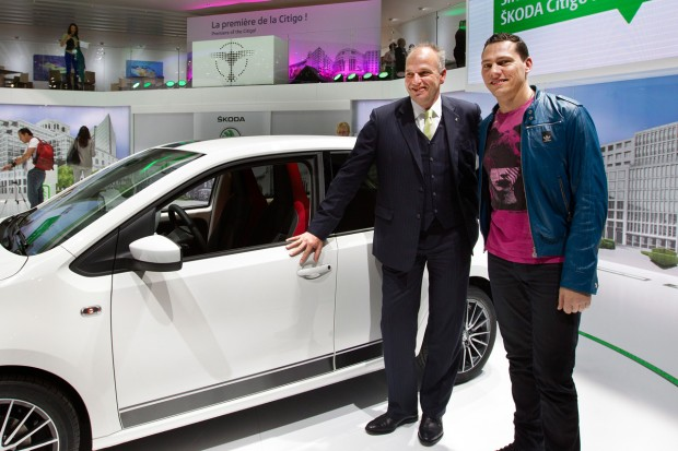 Tiesto with Skoda Car