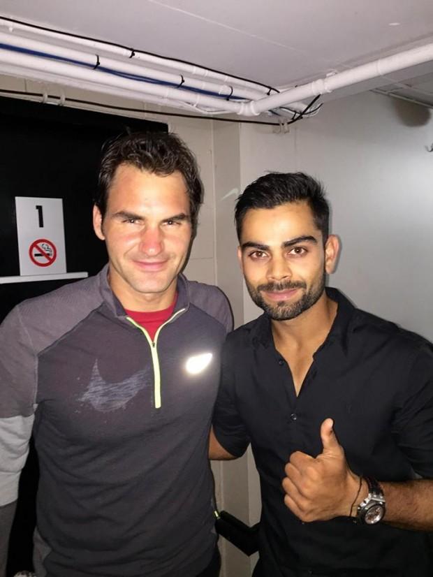 Kohli with Roger Federer