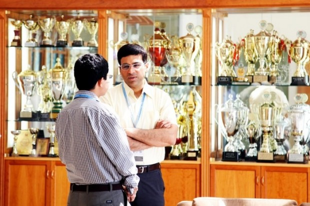 Vishy Anand and The golden Trophies