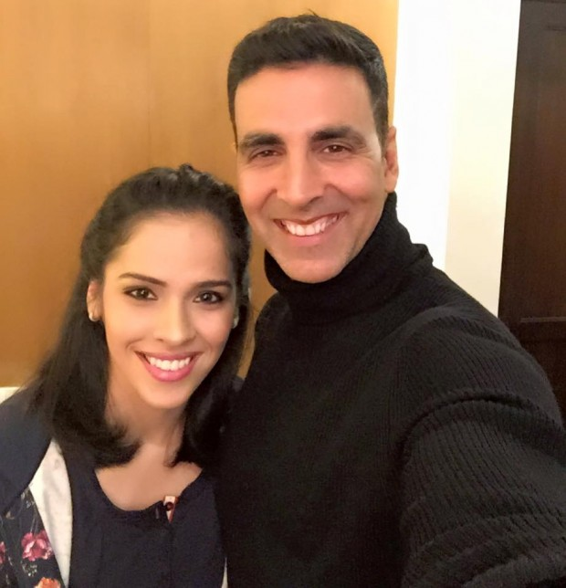 Saina Nehwal with Indian Actor Akshay Kumar