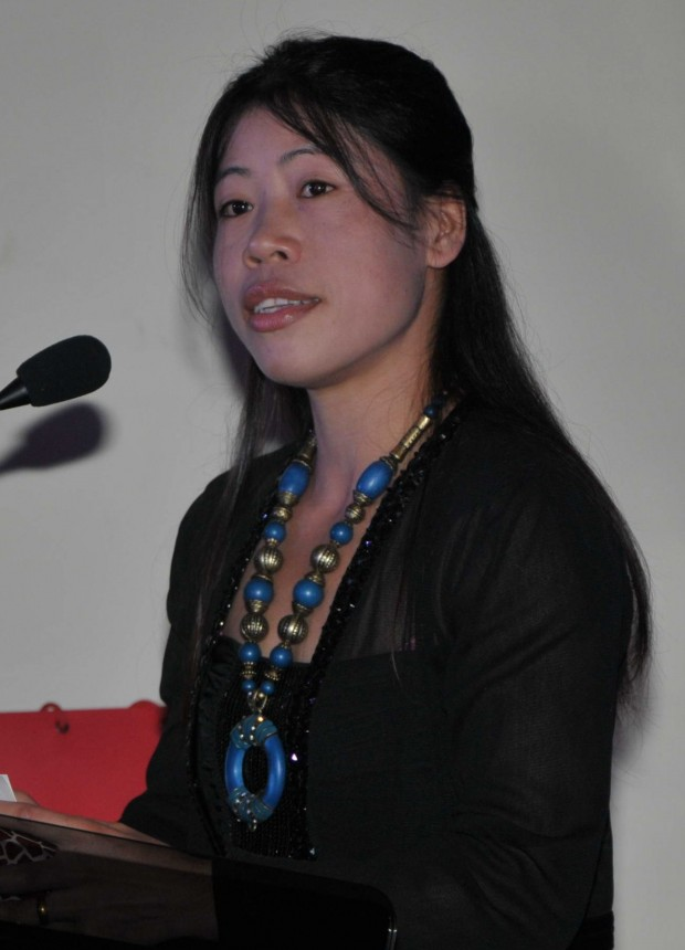 Mary Kom Speaking at the British High Commission