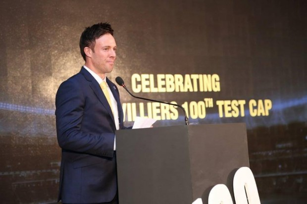 ABD Speaking at an Event Organized By Banglore Cricket Association for Devilliers 100th Test