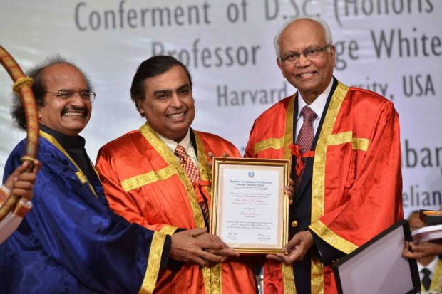 Mukesh received Doctorate from doctorate from ICT