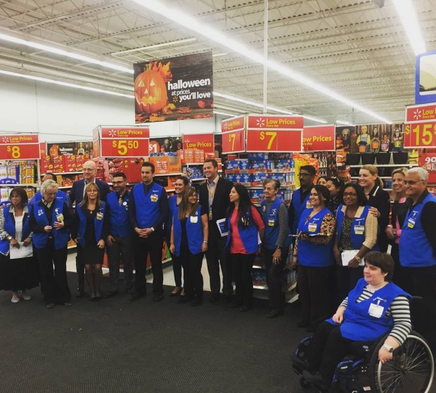 Doug McMillon with Ontario Walmart Store Staff