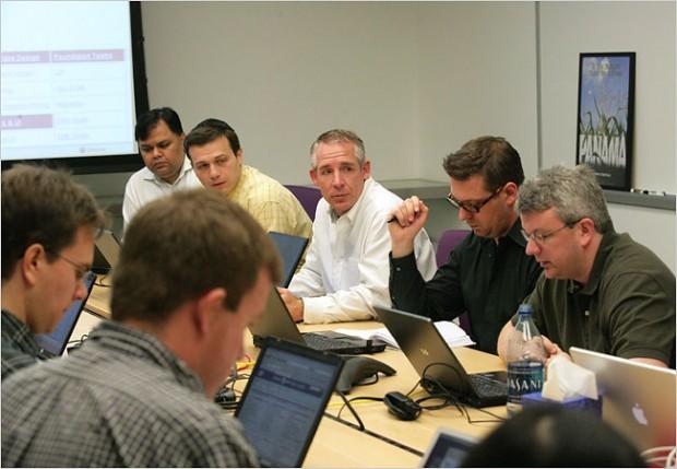 Brian Acton in a Team Meeting