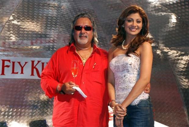 Vijay Mallya With Shilpa Settii