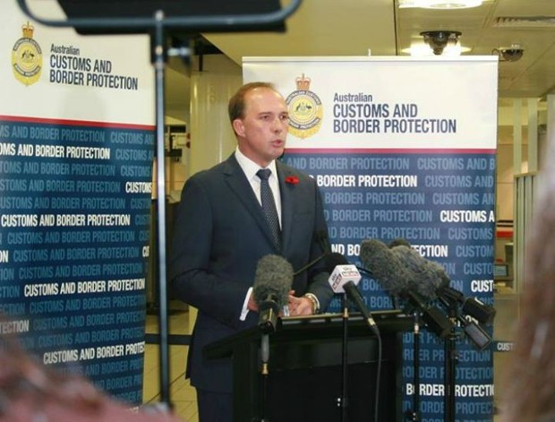 Peter Dutton At a Press Conference