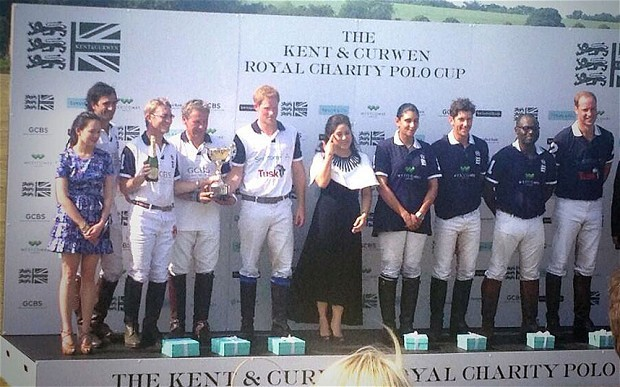 Prince Harry at Royal Charity Polo Cup