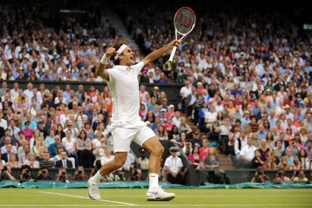 Federer Winning Wimbledon