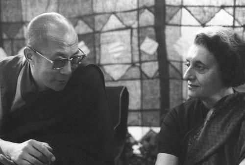 Indira Gandhi and Dalai Lama
