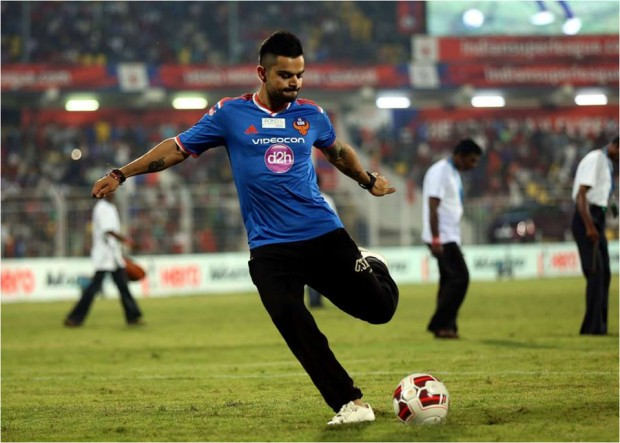 Kohli Playing Foot Ball Berfore Start of Match