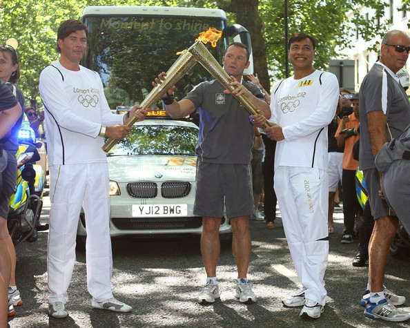 Mittal with The Olympic Torch