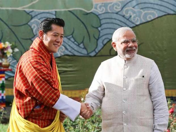 Modi With Bhutan King Jigme Khesar Namgyel Wangchuck