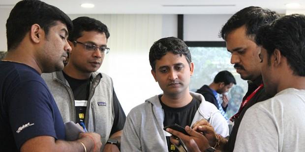 Sachin Bansal with Flipkart CTO Amod Malviya