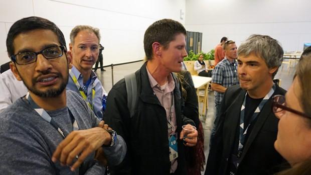 Sundar Pichai with Google Founder Larry Page