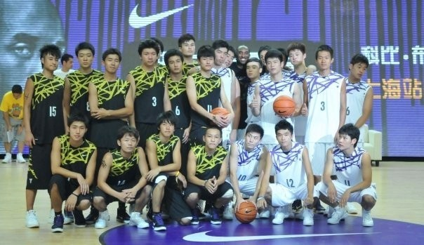 Kobe with Young Players in Shanghai