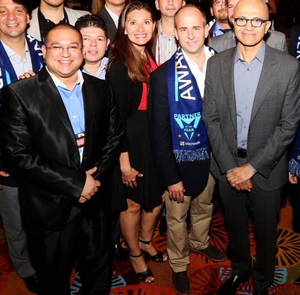 Satya Nadella with Donny Ramdathsingh, CEO of CTTL