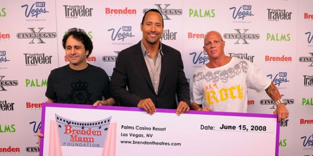 Dwayne Johnson at a Charity Event