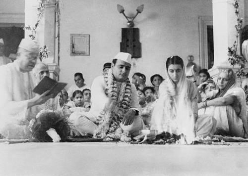 Indira Gandhi Marriage Photo