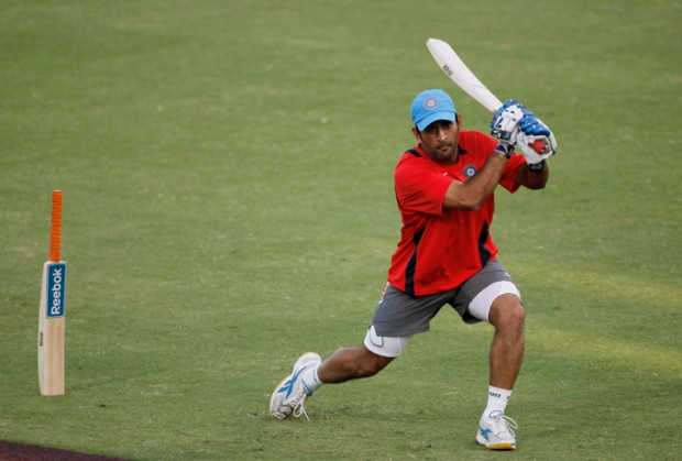 Dhoni in a Practice Session