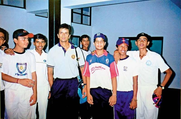 Kohli with Rahul Dravid in His Early Career