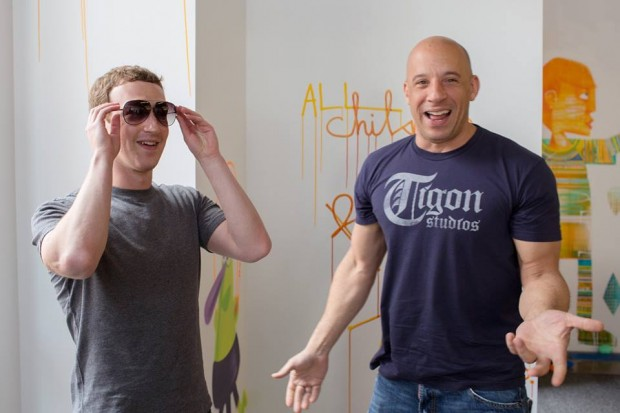 Mark Zuckerberg With Hollywood Actor Vin Diesel