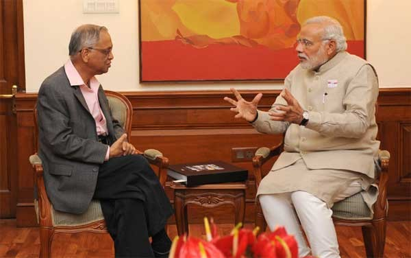Narayana Murthy in Conversation with Indian PM Narendra Modi
