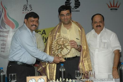 Vishy Anand at IBCA Chess Olympiad