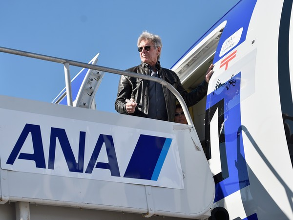 Harrison Ford with Star Wars Cast on ANA Charter Flight
