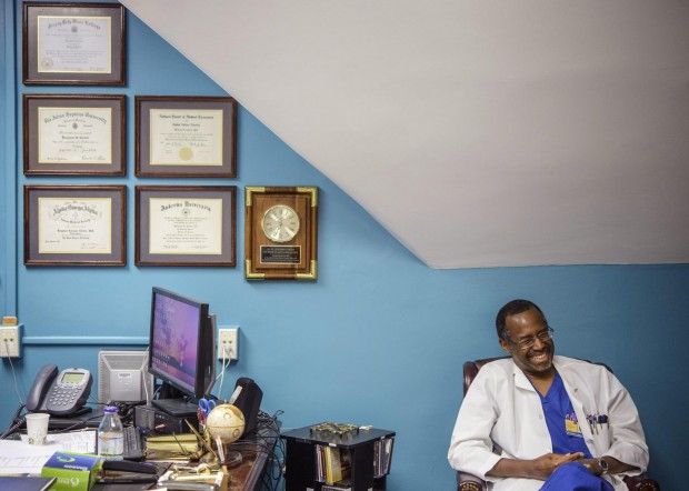 Dr. Ben Carson in his office in Baltimore