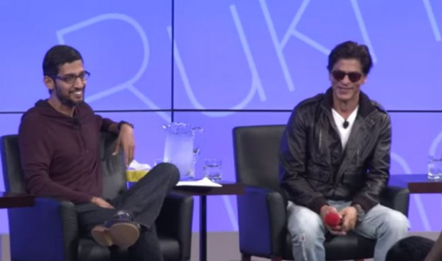 Sundar Pichai with Indian Actor Shahrukh Khan