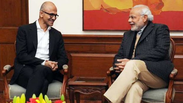 Satya Nadella In Conversation with Indian Prime Minister Narendra Modi