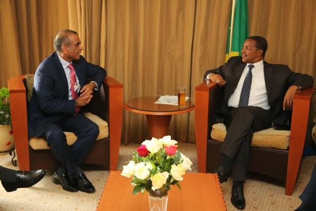 Sunil Mittal with President Jakaya Mrisho Kikwete