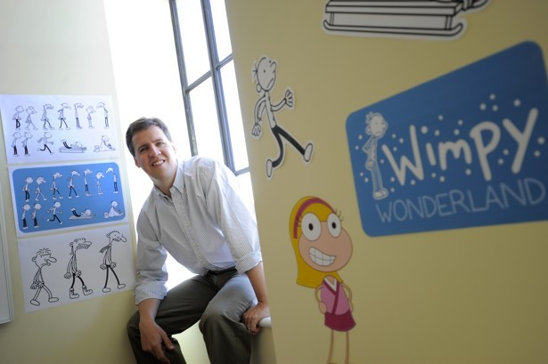 Jeff Kinney at his office in Boston