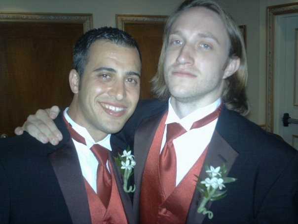 yannascoli and Chad hurley at matt wright's wedding