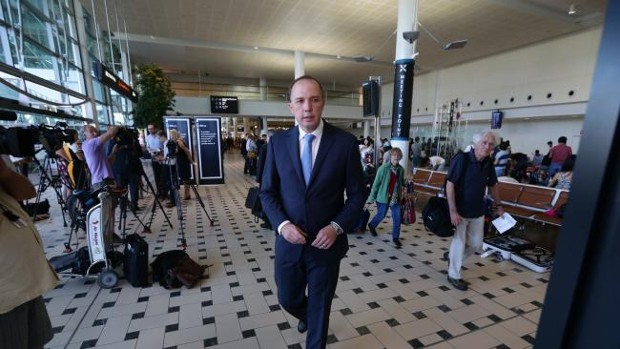 Minister for Immigration and Border Protection Peter Dutton In Brisbane