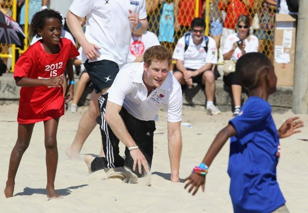 Prince Harry Playing Volleyball with Brazilian Locals