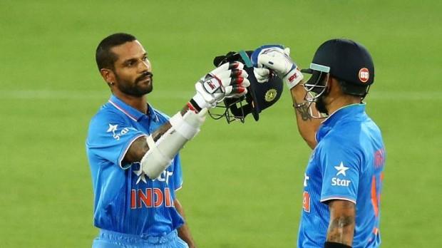 Shikhar Dhawan with Virat Kohli both Scored century againest Australia in 2016