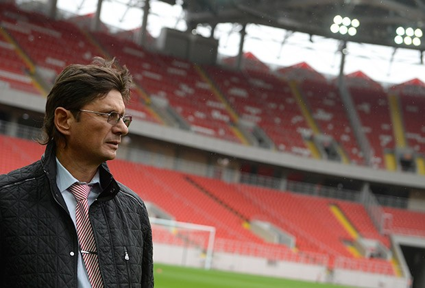 Leonid Fedun at Football Stadium