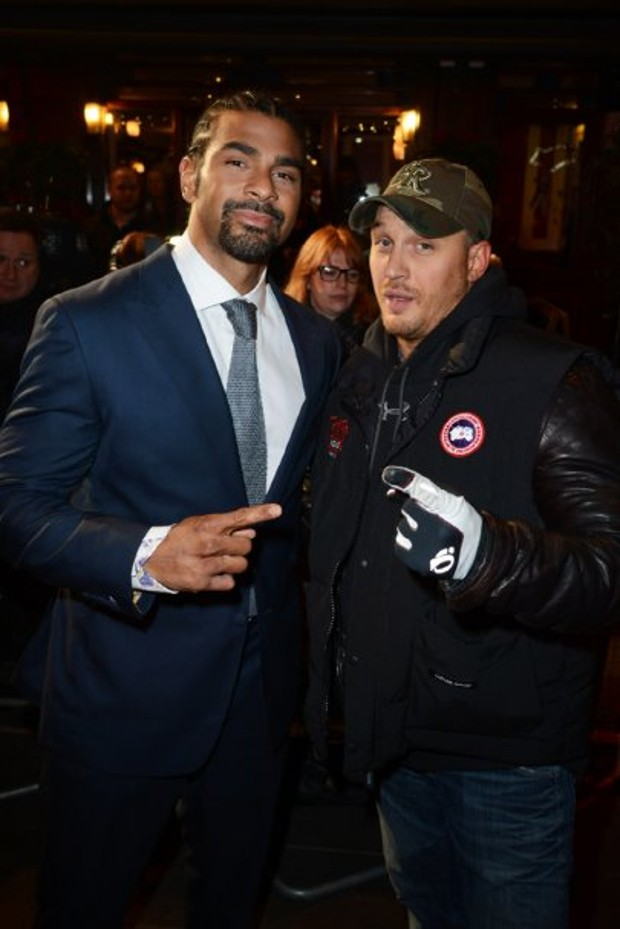 Tom Hardy With David Haye