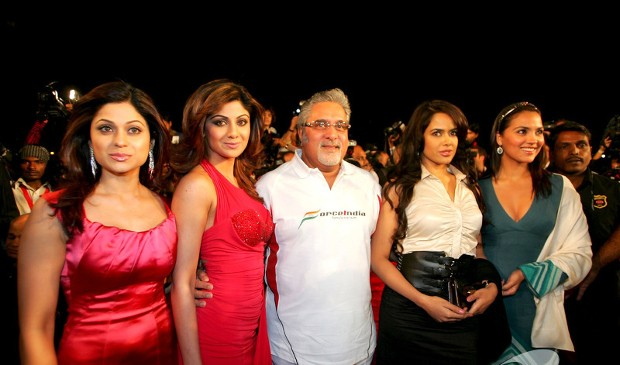 Vijay Mallya With Indian Actresses