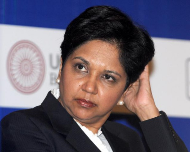 Indra Nooyi at Meeting in New Delhi.