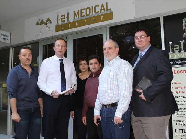 Peter Dutton With Doctors At 121 Medical Centre