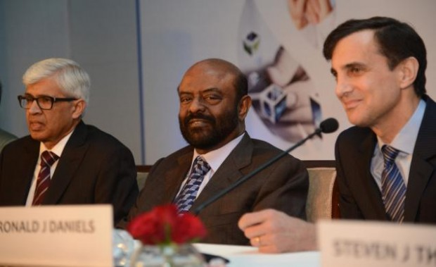 Shiv Nadar with Ronald J. Daniels, Presidentn of Johns Hopkins University