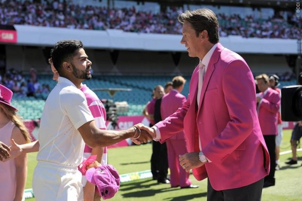 Kohli with Mc Grath