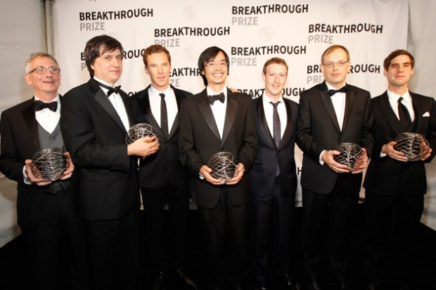 Mark Zuckerberg with Breakthrough Award Winners