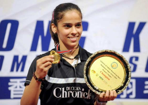 Saina Nehwal after Winning Hong Kong Open Super Series