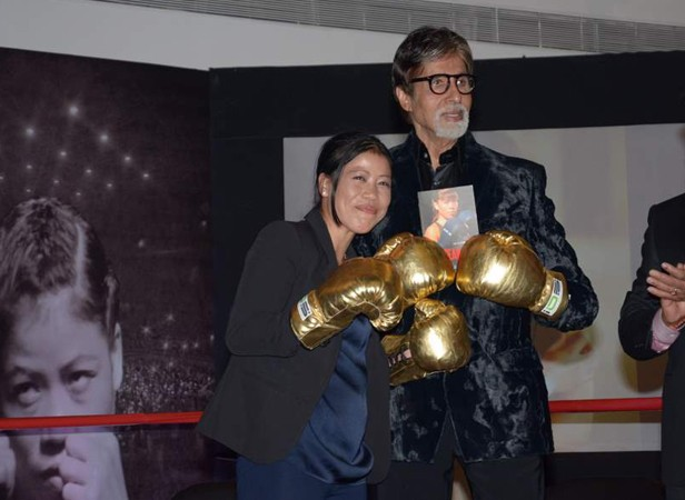 Kom With Amitabh Bachchan at the Launching Of 'Unbreakable
