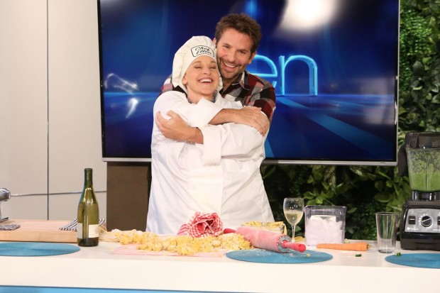 Bradley Cooper and Ellen DeGeneres' Hands in Hilarious Cooking Segment for Charity