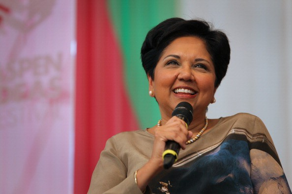 Indra Nooyi in an interview with The Atlantic's David Bradley